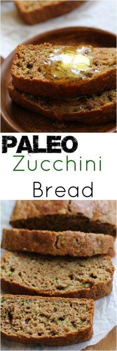 Paleo Zucchini Bread - grain-free, refined sugar-free, and healthy! | TheRoastedRoot.net #recipe #glutenfree #breakfast