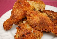 Oven Fried Buttermilk Chicken!  I skipped the oil fry & seared at 450 for 15 minutes then flipped chicken skin side down for 10 more minutes.  Knocked oven back to 360!  Kids love.  (I omitted the hot sauce from their buttermilk soak...)