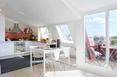 Sweden Apartment Design with Cool 10 Square Meter Roof Terrace | DigsDigs