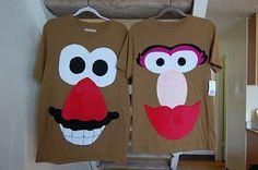 DIY Mr & Mrs Potato Head Costume