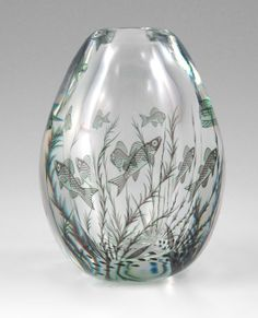 EDWARD HALD / ORREFORS FISHGRAAL ART GLASS