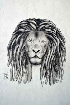 5da6245a6 Leao Rasta, Afro Tattoo, Lion Tattoo Design, Tattoo Designs, Lion Drawing,