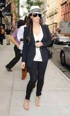 Kim Kardashian Rocks A Tailored Look On The Streets Of New York, September 2011