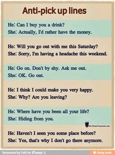 Pick up line questions