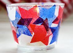 DIY patriotic star votive holder.