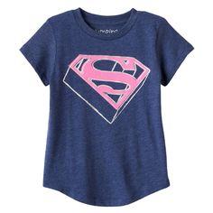 Toddler Girl Jumping Beans® DC Comics Supergirl Glittery Graphic Tee, Size: 5T, Blue (Navy)