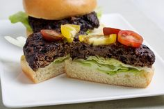 These burgers get savory flavor from ground mushrooms and soy sauce, color and texture from cooked brown or black rice, and a rare toothsomeness from a surprise addition: vital wheat gluten, the powder used to make the traditional meat substitute seitan.
