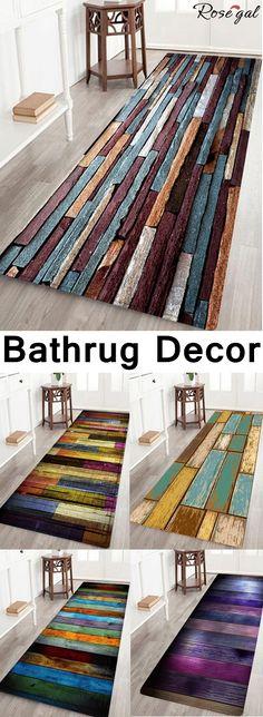 Up to 60% off.Free shipping worldwide.Vintage Wood Floor Pattern Indoor Outdoor Area Rug.#bathrug#homedecor#mats