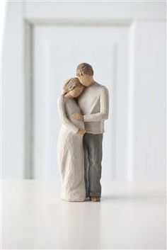 """""""Home"""" figurine by #willowtree. Beautiful #baby shower gift! """"Together, our family is home."""""""