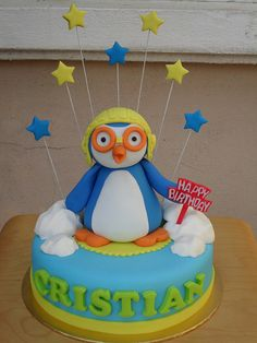 Pororo by sweetobsessions, via Flickr Penguin Cakes, Penguin Party, Boy Birthday Parties, Birthday Cake, Party Like Its 1999, Fashion Cakes, Cake Stuff, Novelty Cakes, Cakes For Boys