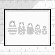 Plakat dla dzieci - Matrioszki