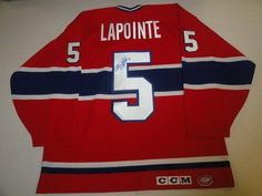 Autographed Guy Lapointe Jersey - Ccm Hof Rare - Autographed NHL Jerseys by Sports Memorabilia. $407.99. GUY LAPOINTE SIGNED CCM MONTREAL CANADIENS JERSEY HOF RARE