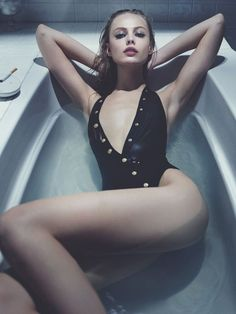 frida gustavsson model2 Frida Gustavsson Models Swimwear Looks for Interview by Robbie Fimmano