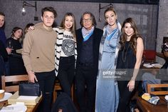 Anwar Hadid, Marielle Hadid, Mohamed Hadid, Alana Hadid and Shiva Safai attend Alana Hadid x Lou & Grey Celebrate Collaboration With Friends And Family In Los Angeles at Republique on December 16, 2015 in Los Angeles, California.