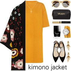 Kimono Jacket by lgb321 on Polyvore featuring polyvore, fashion, style, Étoile Isabel Marant, RED Valentino, Jimmy Choo, Oscar de la Renta, Sterling Essentials, STELLA McCARTNEY and Yves Saint Laurent