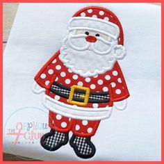 Santa Claus Applique Shirt by NoOdLeSBoutique on Etsy, $19.00