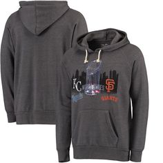 San Francisco Giants Majestic Threads 2014 National League Champions Hoodie - Gray