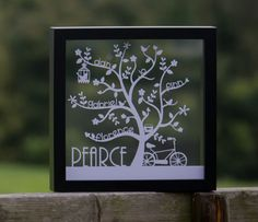 Personalised Family Tree Papercut with Free UK Delivery - up to 7 names - iMake UK
