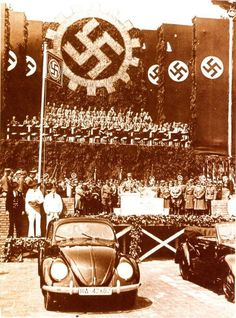 Adolf Hitler at the official presentation of the new Volkswagen Beetle