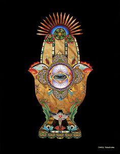 METAPHYSICALART | Hamsa Hand of Protection | Metaphysical Art Prints | Giclee
