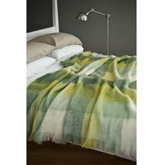 Cosy Up to an Avoca Mohair Throw - with summer greens, soft and fresh in this lovely mohair blanket, woven at our mill. Great in any interior or on a bed.