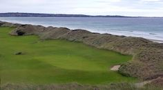 Barnbougle Dunes 8th green taken from the clubhouse