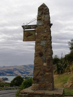 Sign of  the Kiwi -- on the port hills in Christchurch
