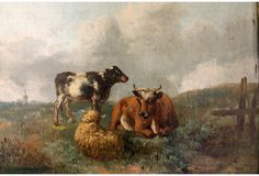 One Kings Lane - Cows & Sheep in a Landscape