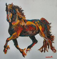 Horses, graceful, powerful, timid