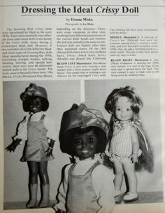 """VTG Doll Clothing Pattern for Ideal's Crissy 12"""" & 18"""" - Uncut"""