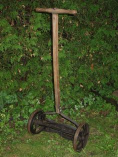 Push manuel lawn mowers! We still have one! They work great!