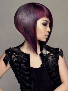 Wow this deep purple hair color ♡ Cool Hair Color, Purple Hair, Deep Purple, Cut And Color, Bob Hairstyles, Hair Inspiration, Your Hair, Wigs, Short Hair Styles