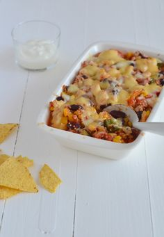 mexicaanse quinoa casserole #healthy #mexicanfood #recipe