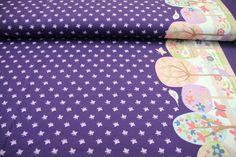 Kinderstoffe - Jersey Hilco Schmetterling / Bäume rosa / lila - ein Designerstück von Rhein-Main-Stoffe bei DaWanda