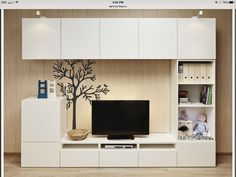 Living Room Shelves, Living Room Decor, Ikea I, Living Room Entertainment Center, Living Room Tv Unit Designs, Piece A Vivre, Home Interior Design, Decoration, Home Decor