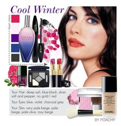"""Cool Winter."" by poachy ❤ liked on Polyvore featuring beauty, Chanel, Hourglass Cosmetics, Lancôme, ESCADA, Christian Dior, NARS Cosmetics and Bobbi Brown Cosmetics"