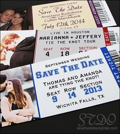 If you and your fiance are sports fans this is the PERFECT idea for a save the date card!