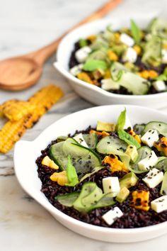 Sweet Gula: Salada de Arroz Preto, Milho e Mozzarella