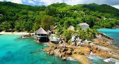 Experience the Romantic Surroundings of Sunset Beach Hotel - Sunset Beach Resort, Mahe, Seychelles Seychelles Resorts, Seychelles Honeymoon, Seychelles Beach, Seychelles Holidays, Praslin Seychelles, Honeymoon Hotels, Beach Hotels, Beach Resorts, Tropical Wallpaper