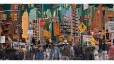 This New York City collage is again using different buildings and people from around the city.