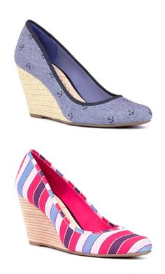 Espadrille wedges with a closed, almond-shaped toe. Great option for work, play and everything in between.