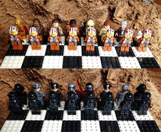 Made a Star Wars The Force Awakens LEGO Chess Set for my kids:)... - Geek gifts