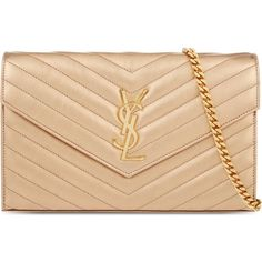 Saint Laurent Grey Monogram Envelope Clutch (3.260.590 COP ...