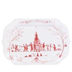 Juliska Country Estate Winter Frolic Ruby Gift Tray, Merry Christmas | Bloomingdale's