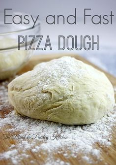 Easy and Fast Pizza Dough is the answer to your Friday Night take out. Way better than frozen or delivery! You will never order out again! Fast Dinners, Easy Meals, Freezer Meals, Pizza Recipes, Cooking Recipes, Easy Recipes, Chicken Recipes, Dinner Recipes, Easy Pizza Dough