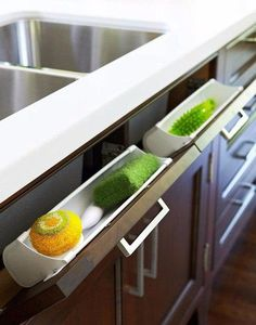 9 Desirable Hacks: Kitchen Remodel Cost Home galley kitchen remodel faucets.Small Kitchen Remodel L-shaped lowes kitchen remodel built ins.Small Kitchen Remodel L-shaped. New Kitchen Cabinets, Kitchen Redo, Kitchen Dining, Smart Kitchen, Awesome Kitchen, Hidden Kitchen, Kitchen Sinks, Kitchen Modern, Modern Farmhouse