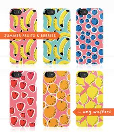 Amy Walters: Summer Fruits & Berries iPhone Cases