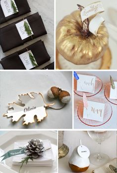 Autumn Place Cards! You can do it! #diy #thanksgiving