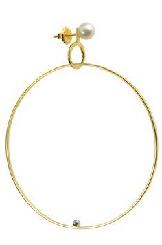 modern chic earrings | gold | pearls | Lauren Chisholm
