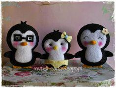 Uma família de pinguins!